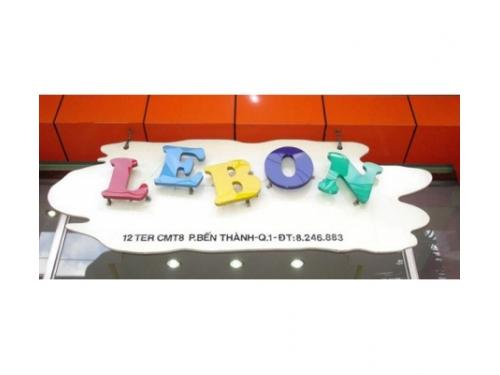 Chữ nổi mica Lebon