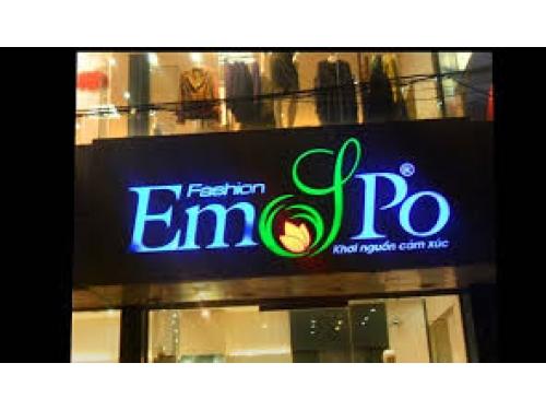 Chữ nổi Mica bảng hiệu shop Emjpo