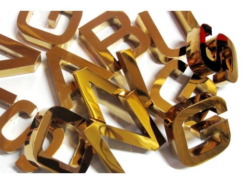Chữ viền inox vàng