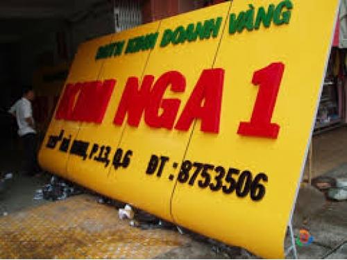 Chữ nổi Mica bảng hiệu Kim Nga 1